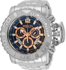 Invicta Mens 70MM Sea Hunter Blue Dial 300M Swiss Chrono SS Bracelet Watch