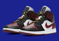 Nike Air Jordan 1 Mid SE Black Dark Beetroot (Size Womens 6.5) NEW/AUTHENTIC