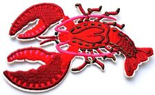Lobster Embroidered Cut Out Iron On Patch Applique Quality Sea Food Crafts