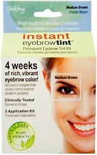 Godefroy Instant Eyebrow Tint Natural Plant Based Dyes, Medium Brown 3 ea