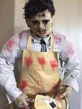 Rare Leatherface 6 ft Lifesize Animatronic Prop Gemmy Horror Halloween Display