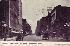 MINNEAPOLIS MN 1907-14 Nicollet Avenue Old Model T Autos Stores VINTAGE MINN GEM