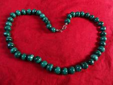 Kette Malachit Kugeln Perlen Stein Halskette Collier Kugel Perle Heilstein grün