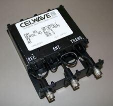 Celwave UHF Duplexer 928-960 MHz 4-Cavity BNC/BNC/BNC Tuned to 928.5/952.5 MHz