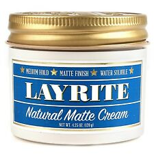 LAYRITE Natural Matte Cream Medium Hold Pomade 4.25 oz  120grams