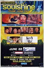 "MICHAEL FRANTI & SPEARHEAD /SOJA ""SOULSHNINE TOUR"" 2015 SAN DIEGO CONCERT POSTER"