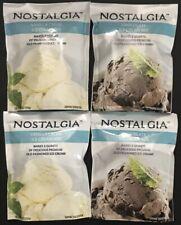 Nostalgia Ice Cream Mix ~ 4 Packs ~ Chocolate (2) & Vanilla (2) New Exp. 2022