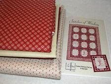 "STITCHES OF WISDOM Embroidery Quilt Kit Moda Fabric DeArmond Lang Spitzli 50x71"""
