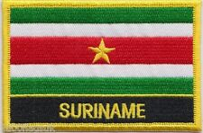Suriname Flag Embroidered Patch - Sew or Iron on