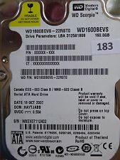 160gb western digital WD 1600 BEVS - 22rst0 | DCM: hacvjanb | 18 oct 2008 | #183
