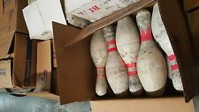1-case of 10 Used/Damaged Bowling Pins For Sale - Great For Target Practice!