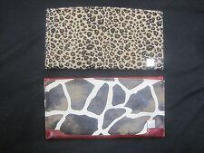 Lot 2 Miche Classic Shell Zebra & Leopard Faux Fur