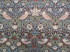 William Morris & Co Curtain Fabric 'Strawberry Thief' 3.6 METRES Chocolate/Slate