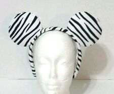 DISNEY PARKS MINNIE MOUSE ZEBRA MINNIE EARS HEADBAND BLACK WHITE ANIMAL KINGDOM