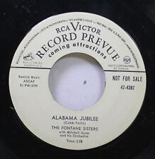 50'S & 60'S 45 The Fontane Sisters - Alabama Jubilee / Grand Central Station On