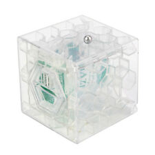 3D Cube Puzzle Money Maze Bank Saving Coin Collection Case Box Fun Brain Game CL