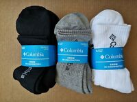 4/8/12 pack Columbia Mens Crew Cotton Blend Trekking Socks One Size Size 6-12