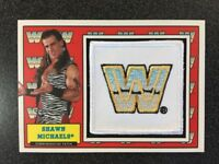 SHAWN MICHAELS 2017 TOPPS WWE HERITAGE WWE LOGO COMMEMORATIVE PATCH /299 SP B6