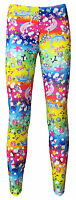 Girls Sea Animals Dolphins Turtles Fish Sharks Print Leggings Size 5 -10 Years
