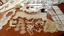 ALL FOR ONE $ ~  ANTIQUE LARGE LOT LACE TRIM EDGING & MORE