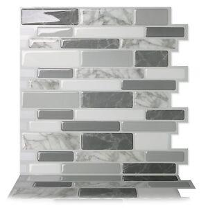 Tic Tac Tiles_3D Peel and Stick Wall Tile_Polito Gray (5 sheets) 30cm x 30cm