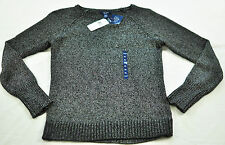 women's CHAP'S black & gray sweater size Large MSRP $69 gunmetal color brand new
