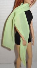 SCARF ~MATTEL SILKSTONE COUNTRY BOUND GREEN SHEER BARBIE DOLL ACCESSORY CLOTHING