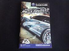 NEED FOR SPEED MOST WANTED NINTENDO GAMECUBE GCN NTSC J JAPON * MANUEL seulement *