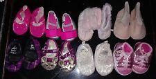 X8 Paires De Filles Landau Chaussure Bundle Lot Âge 3-6 mois