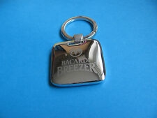 BACARDI BREEZER Keyring. Metal. VGC. Unused. (Heavy Item)