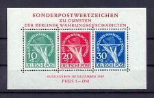 Berlin Block 1 III Währungsgeschädigte Plattenfehler postfrisch kl. Mgl. (qs7)