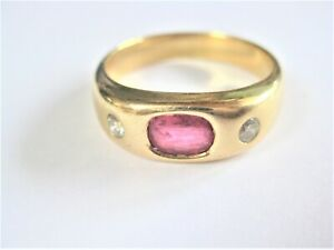 Ring Gold 750 With Ruby And Diamonds, 10,0 G