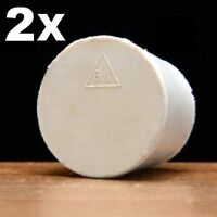 2 SOLID RUBBER STOPPER SIZE # 6.5 RUBBER BUNG FITS MOST GLASS 3/5/6 GAL CARBOYS