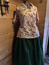 Colonial 18th Century Rev War Williamsburg Duck Cotton Shortgown & Petticoat