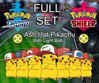 FULL SET of 6IV Ash Hat Pikachu! Square Shiny for Pokemon Sword and Shield