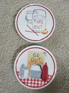 MWW Market 'Let's Eat' Mini Plates Set of 2 Free Shipping