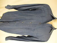 Ermenegildo Zegna Mens Blue Long Sleeve Rayon Shirt M Italy Made