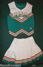 Varsity HORNS Cheerleader Uniform 38 x 28 Aqua, Burnt Orange, White