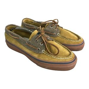 Sperry Top Sider Mens Brown Slip On Loafers Boat Shoes Size 8.5 US 7.5 UK