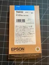 10/2021 GENUINE EPSON T6032 CYAN 220ml INK STYLUS PRO 7800 9800 7880 9880