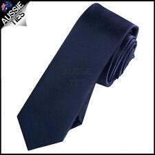 Mens Dark Midnight Blue 5cm SKINNY Tie Necktie Thin Narrow Slim