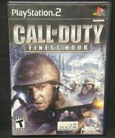 Call of Duty Finest Hour PS2 Playstation 2 COMPLETE Game 1 Owner Near Mint Disc