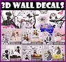 3D Wall Sticker decals Home Decor Decoration Wallpaper Removable kids Room Art
