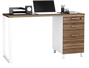 Crafts And Comfort Milano 47 Inch Home & Office Computer Desk Walnut/White Color