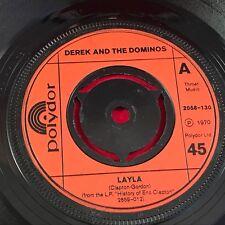 "DEREK AND THE DOMINOS Layla   UK 7"" Vinyl Single EXCELLENT CONDITION"
