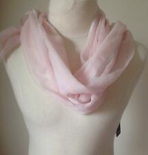 Eileen Fisher Pale Pink Wrap or Scarf CASHMERE with MetallicEdging $218.00