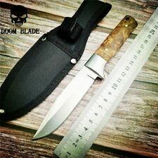 Fixed Blade Hunting Knife 57HRC Hardness Wooden Handle Camping Straight Knife
