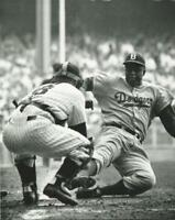 Baseball Brooklyn Dodgers Jackie Robinson Sliding NY Yankees Yogi Berra Photo