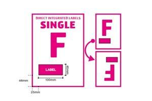 A4 Integrated Label Invoice Paper Sticky Address Sheets Single F Ebay   Amazon