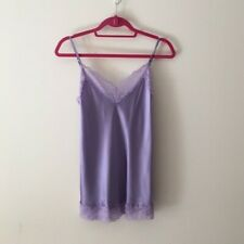 100% Silk + lace camisole top. S
